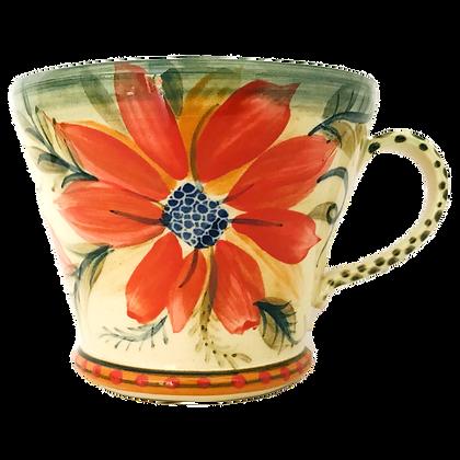 Pru Green - Large Mug Bright Floral Design