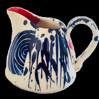 Simon Sharp Pottery -  Abstract Decorated Small Jug