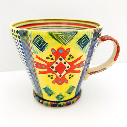 Bright Colourful and Unique Mug by Potter Pru Green