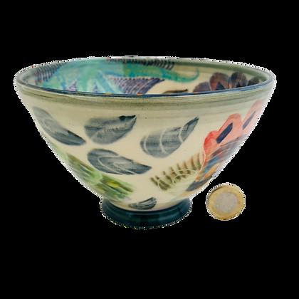 Pru Green Pottery - Deep Shell Bowl
