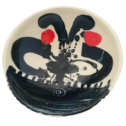 Simon Sharp Pottery Bowl - Abstract Design