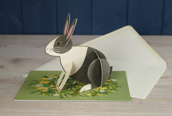 Rabbit - Pop Out 3D Card by Alice Melvin