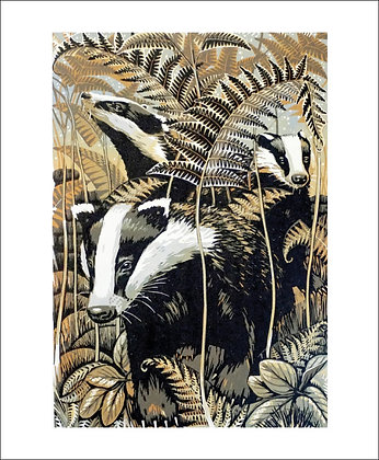 Badgers - Printmakers Cards from Art Angels