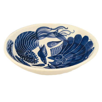 Pru Green - Small Blue and White Dish