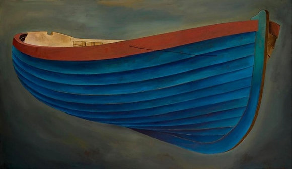 James Dodds - Blue Boat - Lithograph