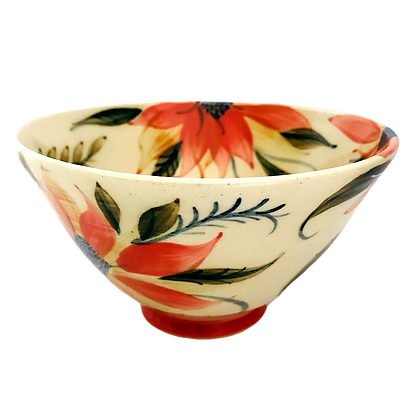 Pru Green -  Deep Medium Bowl - Festive Design