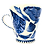 Thumbnail: Pru Green - Blue and White Pottery Mug - Shell Mug