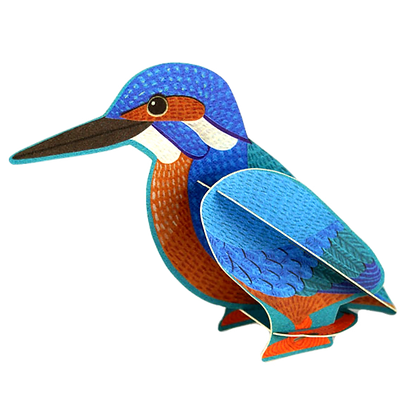 Kingfisher - 3D Pop Out Card by Alice Melvin