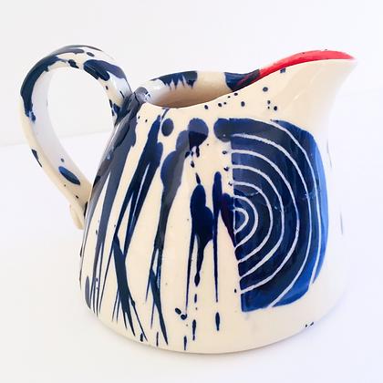 Simon Sharp Pottery - Abstract Bold Small Can Jug