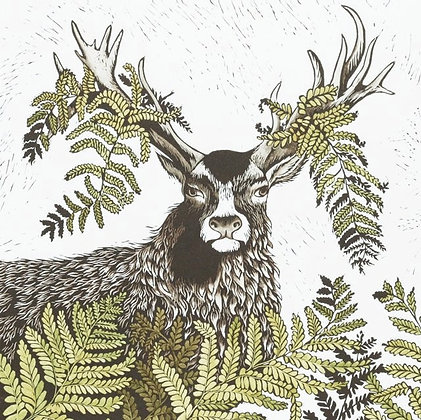 Katharine Green - Stag Linocut