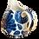 Thumbnail: Pru Green Jug - Blue and white Small Can Jug