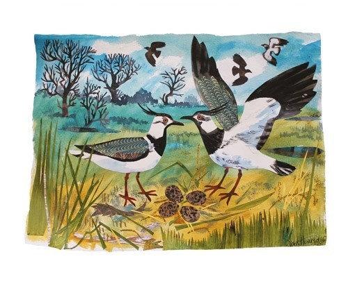 Lapwings - Mark Hearld - Single Blank Card