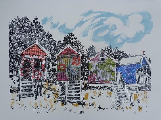 Beach Huts - Vanessa Burroughes