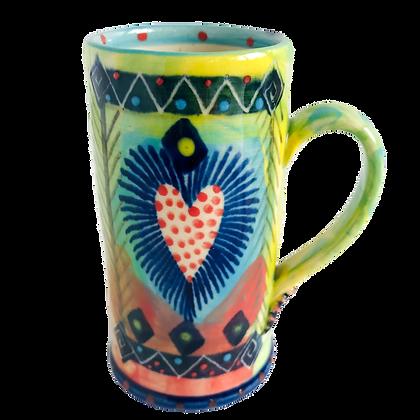 Pru Green Colourful Pottery - Espresso Cup - Handmade Ceramics