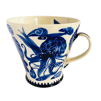 Pru Green - Blue & White Pottery Mug