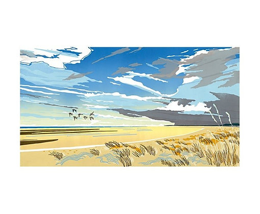 Holkham Beach - by Colin Moore - Art Angels Printmakers Card