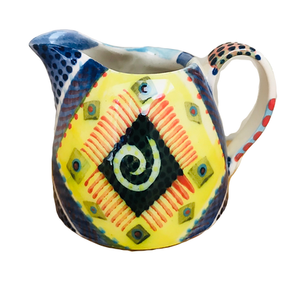 Pru Green - Colourful Decorative Heart Jug