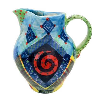 Pru Green - Colourful Patterned Small Jug