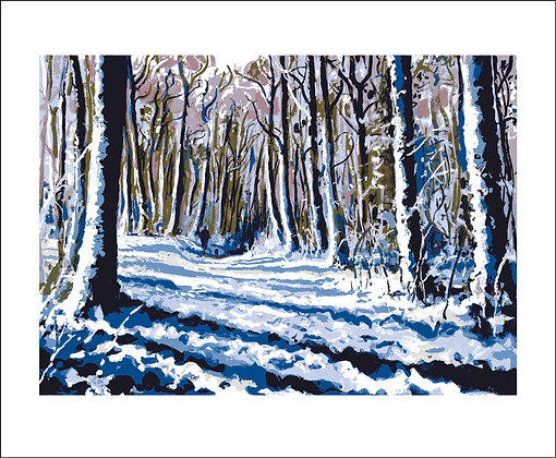 Andy Lovell - White Carpet - Snow scene - Art Angels Printmakers Cards