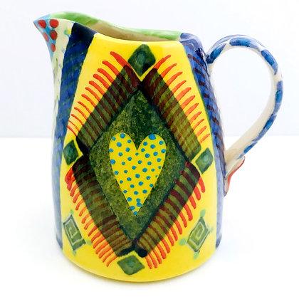 Pru Green - Colourful Small Can Heart Design Jug