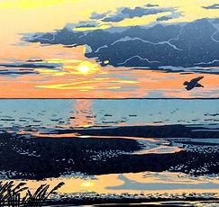 Nina Sage-Printmaker-Church Street Gallery-Sunset on the Shoreline_edited.jpg