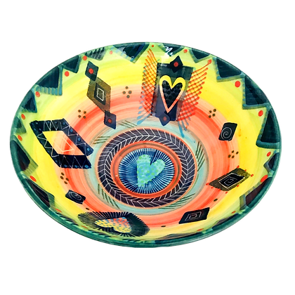 Pru Green Pottery - Colourful Cereal Bowl