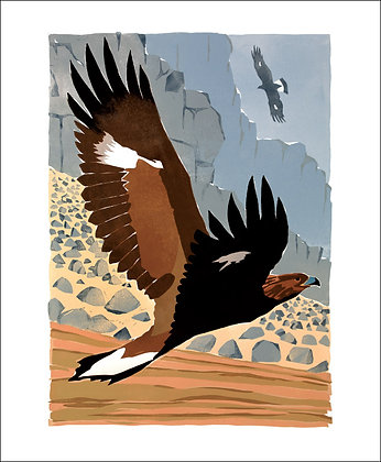 Golden Eagle - Lisa Hooper - Art Angels Printmakers Cards