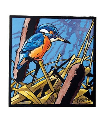 Kingfisher - Andrew Haslen - Printmakers Cards by Art Angels