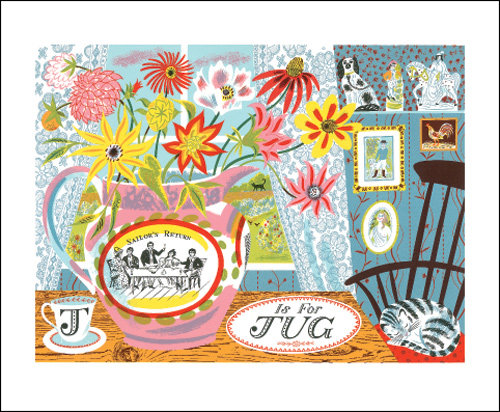 Emily Sutton - J is for Jug - Printmakers Card by Art Angels