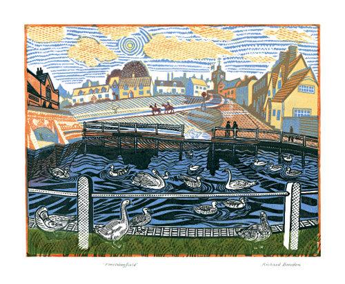 Finchingfield Essex - Richard Bawden - Art Angels Printmakers Cards