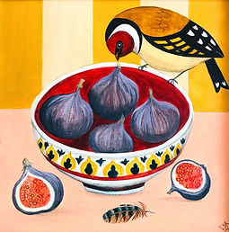 Finch and Figs-Catriona Hall-Painting_.j