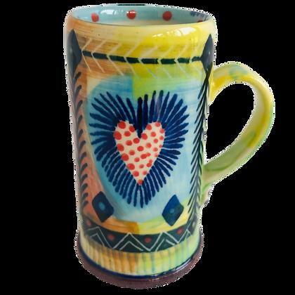 Heart design - Pru Green - Espresso Cup