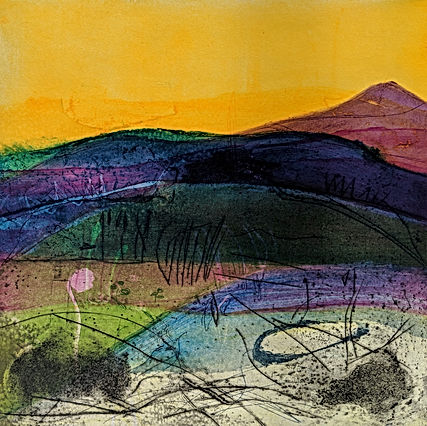 DAVIES,_LOUISE._AUTUMN_GLOW._Etching_and