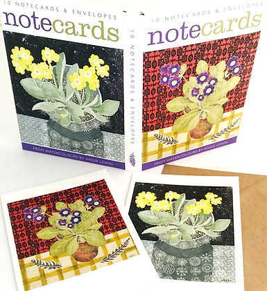 Angie Lewin Notecards - Auricula from Art Angels