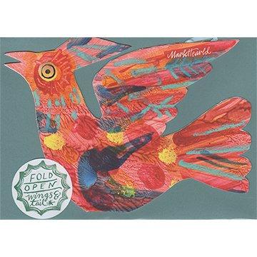 Mark Hearld - Flying Bird Greetings Card - Red