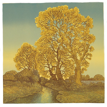 Vanessa Lubach Linocut Norfolk Landscape-Church Street Gallery