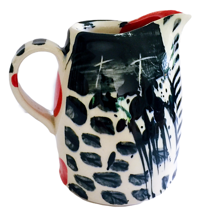 Simon Sharp Pottery -  Abstract Decorated Small Tall Jug