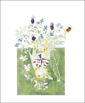 Angie Lewin - Spring Flowers - Art Angels Blank Card
