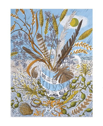 Angie Lewin - Shoreline - Art Angels Blank Card