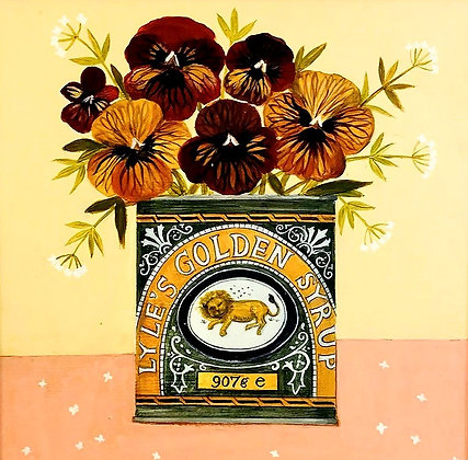 Catriona Hall - Still Life - Violas in the Syrup Tin - Original Painting