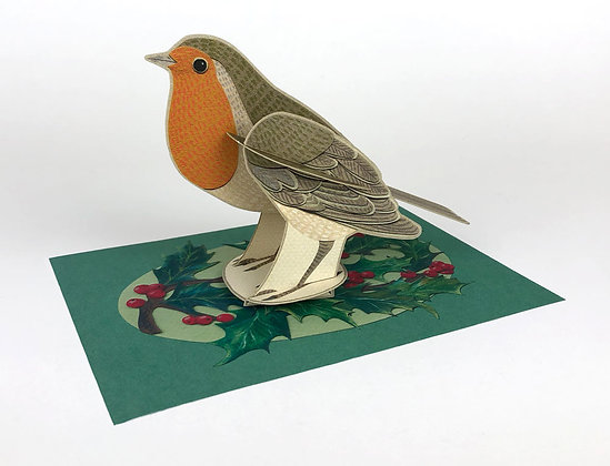 Robin - 3D Pop Out Card by Alice Melvin