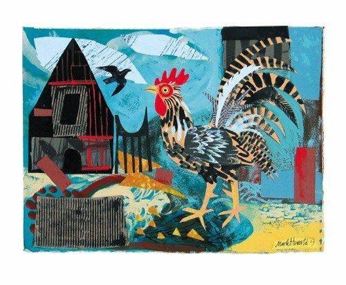 Cockerel - Mark Hearld - Art Angels - Single Blank Card