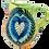 Thumbnail: Pru Green - Colourful Patterned Heart Jug