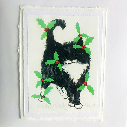 Alison Read Christmas Cards - Puddy Holly