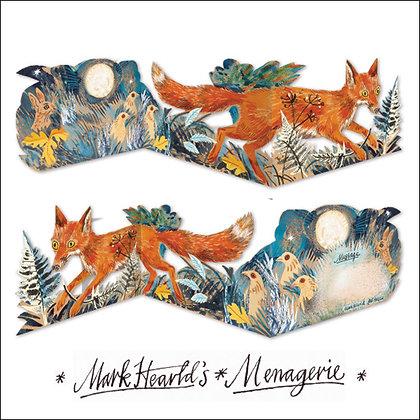 Mark Hearld - Fox -Die Cut Fold Out Card by Art Angels