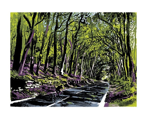 Cycling - Andy Lovell - Tunnel of Light - Art Angels Printmakers Cards