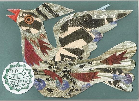 Mark Hearld - Flying Bird Greetings Card - Black