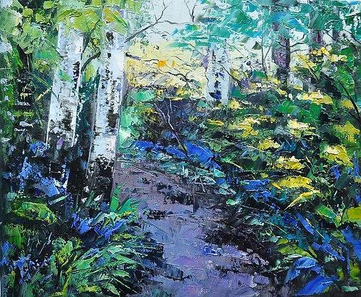 Debbie Scott - Early Bluebells - Original Painting