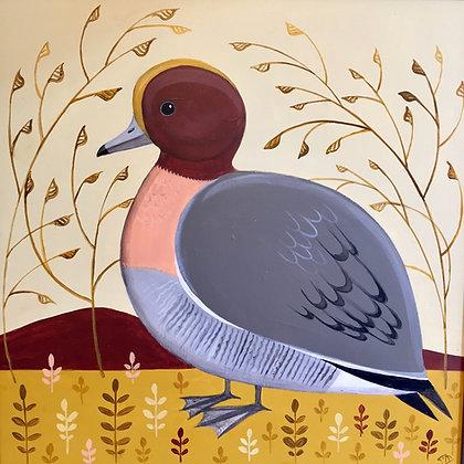 Catriona Hall - Doleful Duck - Original Painting