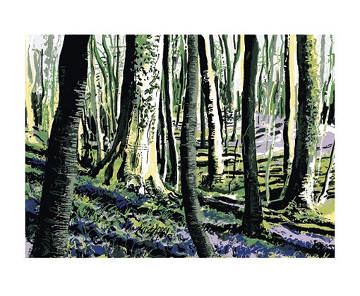 Andy Lovell - Woodland - Purple Carpet - Art Angels Printmakers Cards
